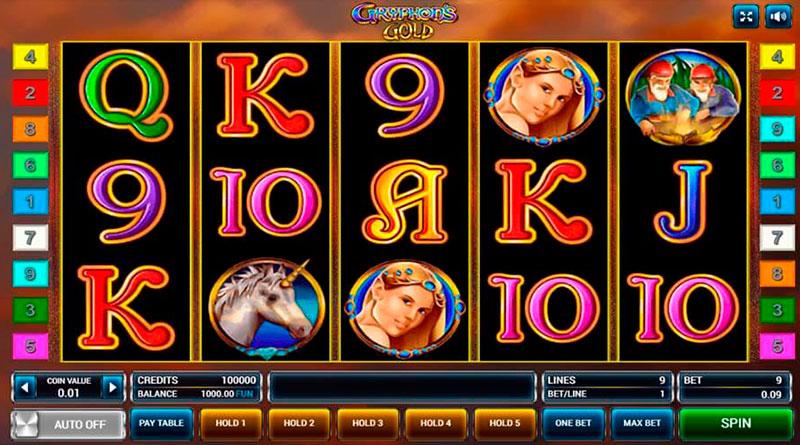 игровой автомат онлайн Gryphons Gold