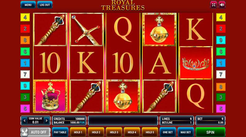 игровой автомат онлайн Royal Treasures